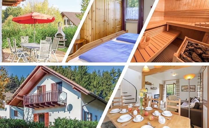 Ferienhaus bei Nina (eigene Sauna, Wald, See)