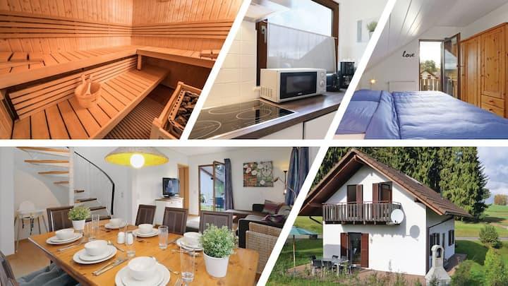 Ferienhaus bei Zoe (eigene Sauna, Wald, See)