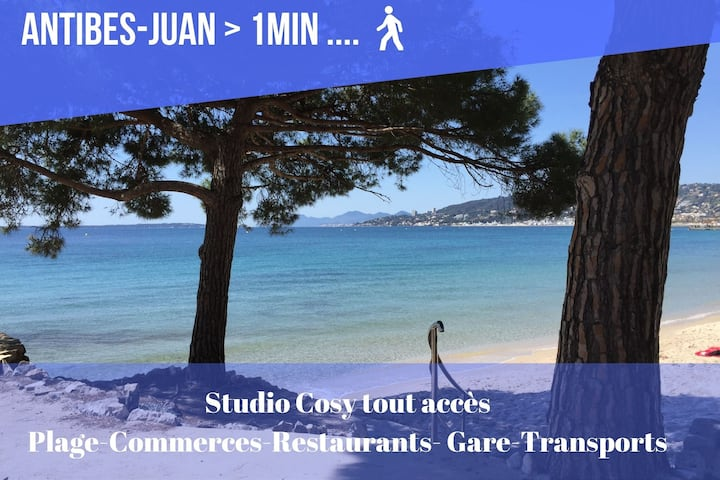 COSY STUDIO SUITABLE FROM ANTIBES