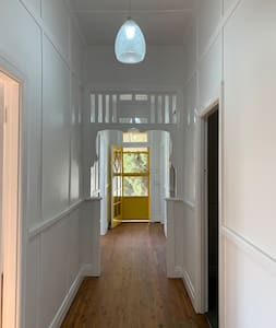 Beautifully wide hallway that has access to all bedrooms, bathroom & living areas. The doors to these areas however are only 80cm wide