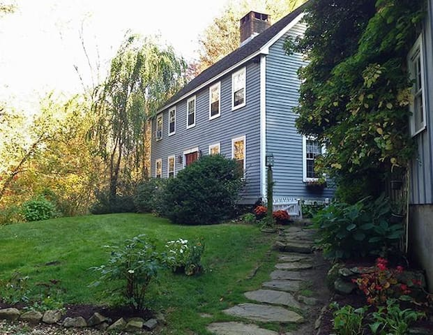Falls Village retreat on 20 hilly acres