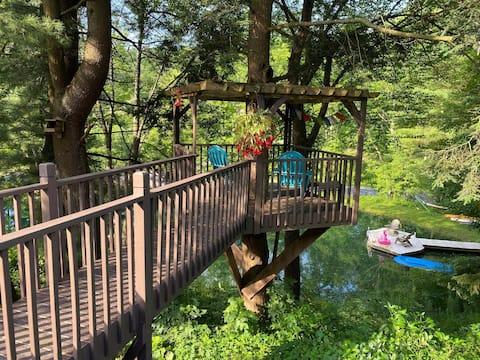 Tree House Retreat: Shindagin Hollow/Cornell