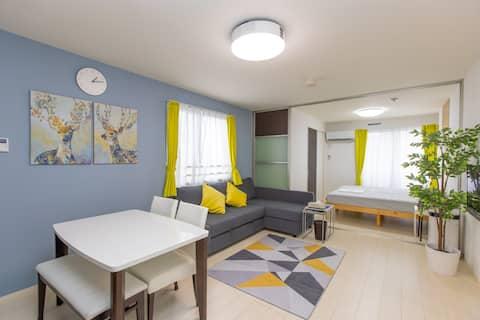 ゲストハウス岐阜羽島心音 2ベッドルーム 40㎡ 1LDK  プロジェクター、キッチン完備 貸切個室
