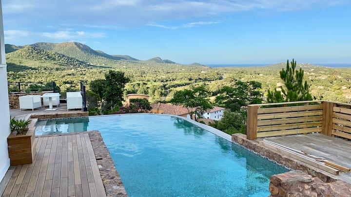 Villa 10 personnes vue exceptionnelle mer montagne