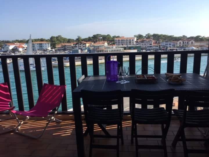 appartement capbreton avec vue sur le port