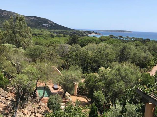 Maison vue mer à Palombaggia (600 m de la plage)
