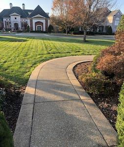 Sidewalk leading to front door