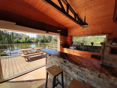 Pond edge cottage with Nordic bath - N°1-