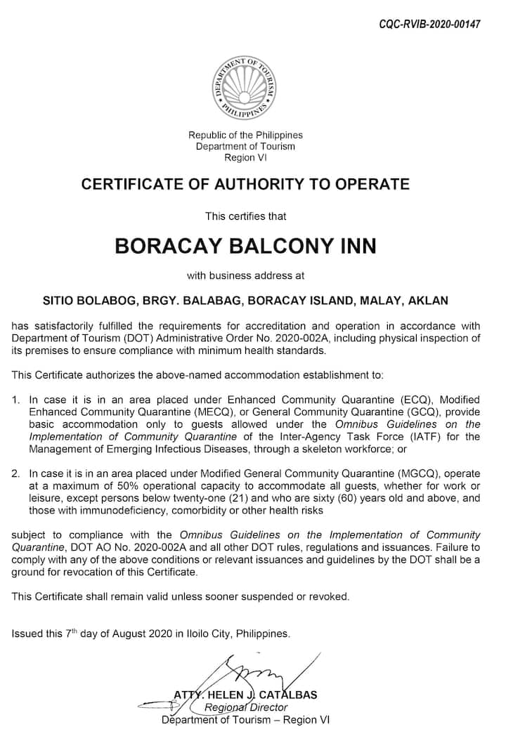 Boracay Balcony Inn Small room 10