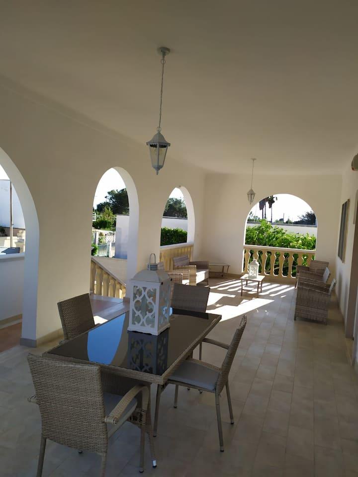 La Villa della Lanterna con veranda panoramica