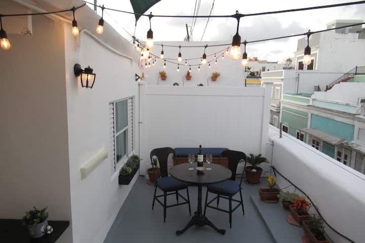PRIVATE TERRACE in BEST location of Old San Juan!