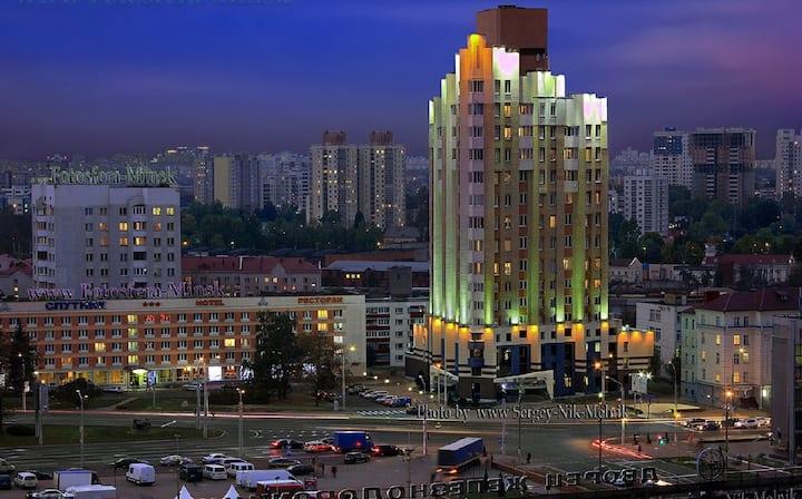 Дом у каштана в центре Минска
