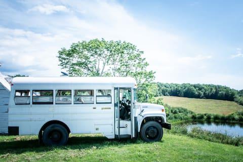 Serenity Awaits! School Bus with Ocean Views