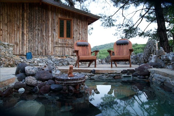 Stunning treehouse with jacuzzi in peaceful valley