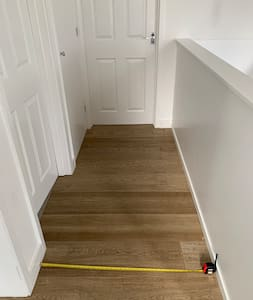 97cm width. The rest of the house upstairs is open plan. The door openings are 74cm.