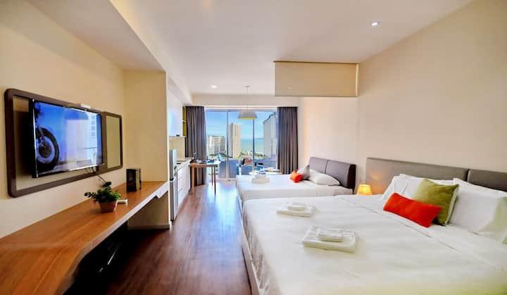Sun&Sea Ariyana-Studio 2 King Beds- 2balcony- 70m2