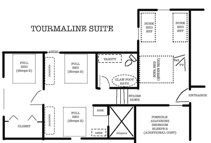 Floor 2 - Tourmaline Suite Layout sketch