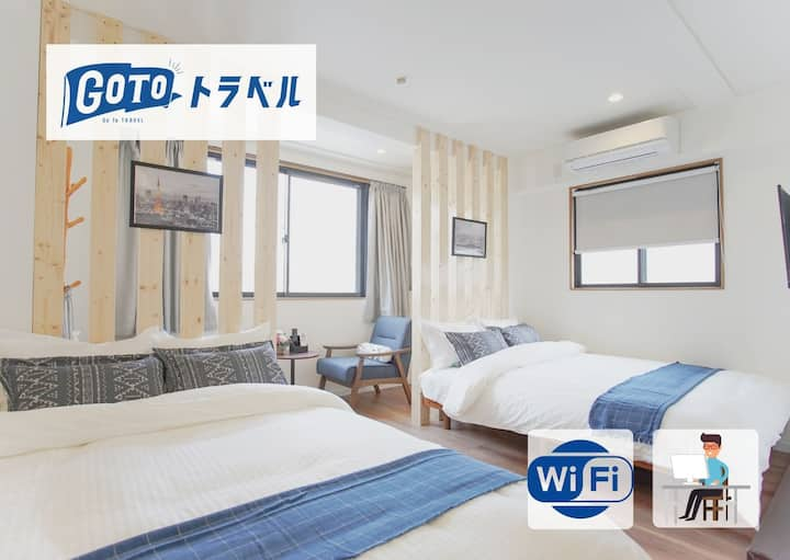 Ueno/Akihabara★ Long-term discount★Wi-Fi★3F