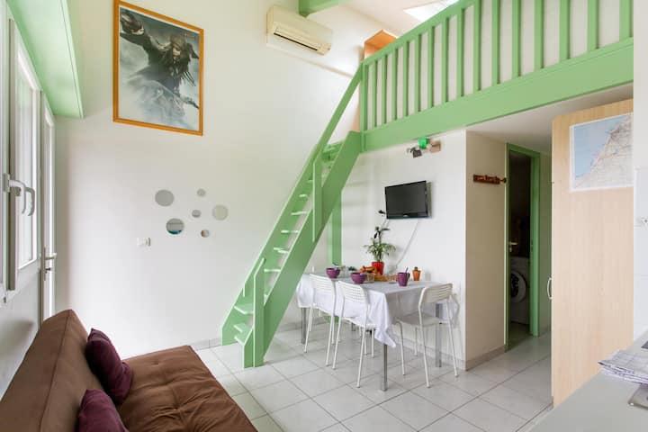 Appart & balcon coté jardin / BIDART / mezzanine