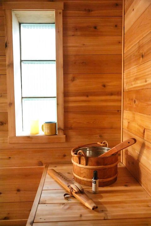 Room with Private Bath & Sauna