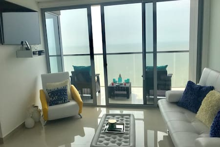 The condo is easy to move around with an oversized balcony