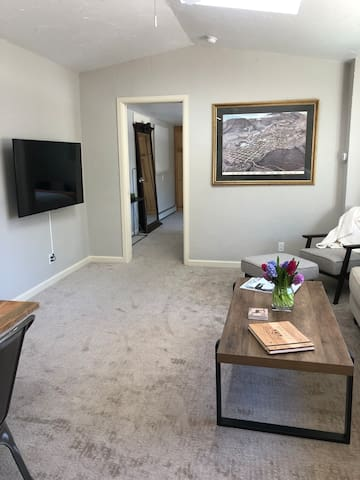 Main living area in the rental unit. The total square ft in the rental is approximately 600