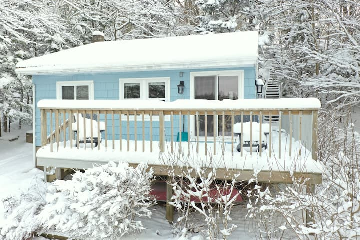 Couples Lakefront Cabin: Dogs, Firepit, 25m to HF