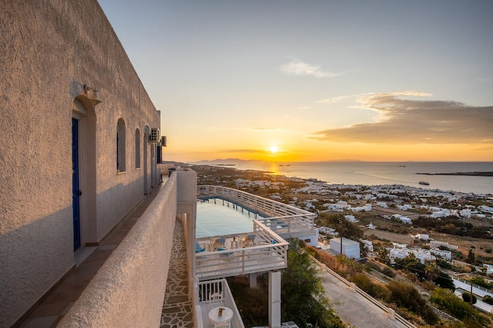 Small Double with Balcony-Golden Sunset Paros