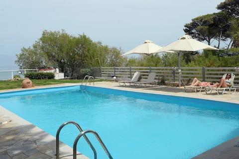 Antorina beachfront house with pool