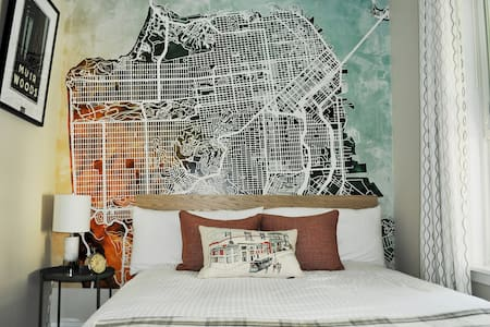 Clean Bright Airy Private Apt in the Heart of SF