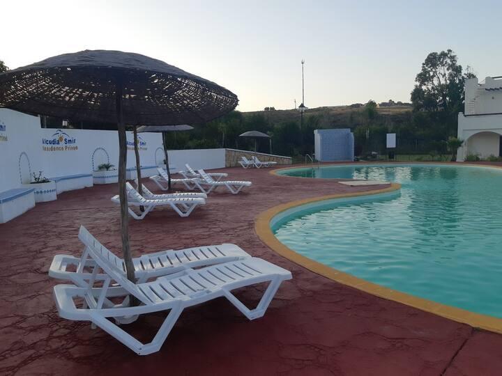 Villa agréable vue piscine à Alcudia Smir