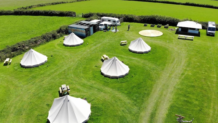 Bell tent camping in North Devon- #1.