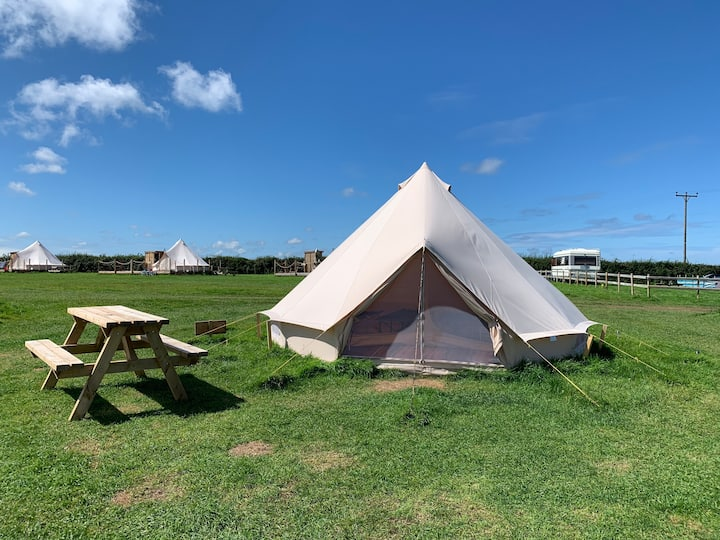 Bell tent camping in North Devon - #5.