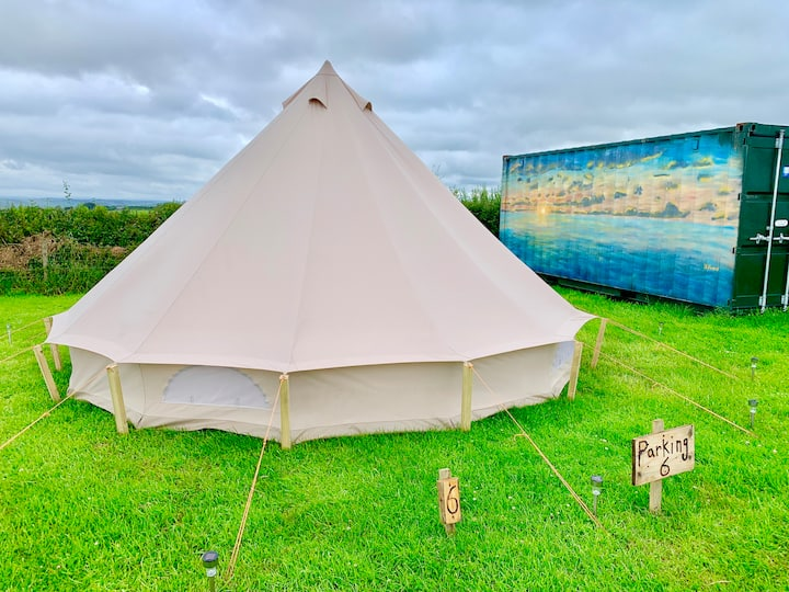 Bell tent camping in North Devon- #6.