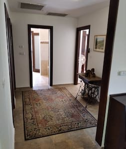 Actually there are no corridors in the house which is very spacious, just this one entrance to the rooms' area (this entrance is very wide, 100 cm. wide).