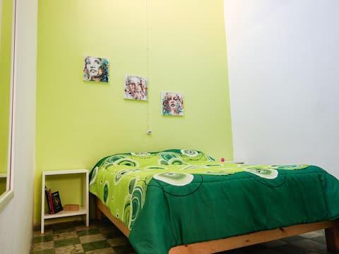 Una habitación en el Corazón de Puebla