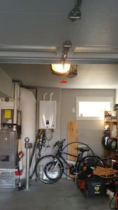 Garage light will automatically turn on when opened.