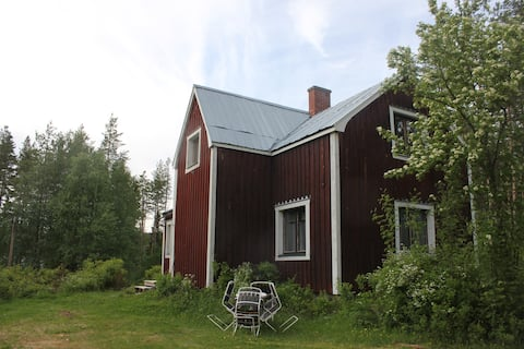 Stonemaking Nilsson's Cottage, close to the lake