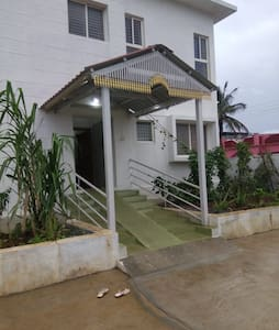 Bungalow entrance.. we have wheel chair facility for needed