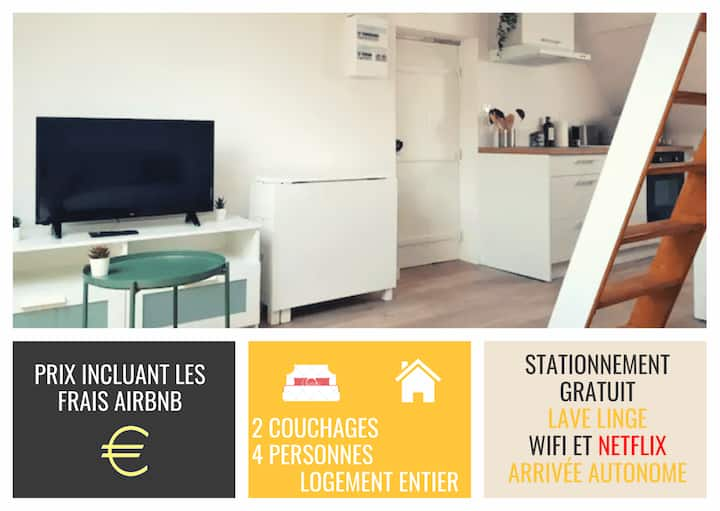 Apartment in a quiet area near Rouen