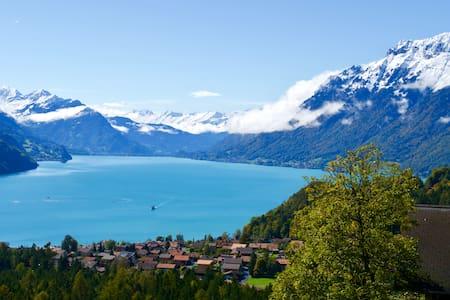 * Gemütliche Wohnung mit See- und Bergsicht *