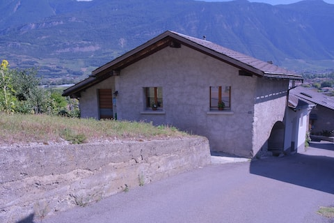 Typical old house surrounded by vineyards