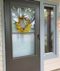Entry has a bright outside light controlled by the renter from the inside.