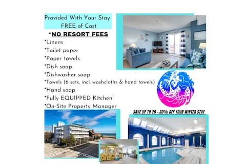 Ocean View*Indoor Pool*Free WiFi*RokuTV