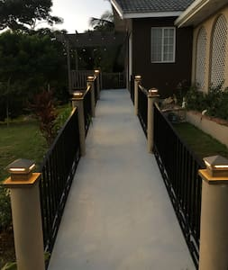 The Ramp that leads into the Villa