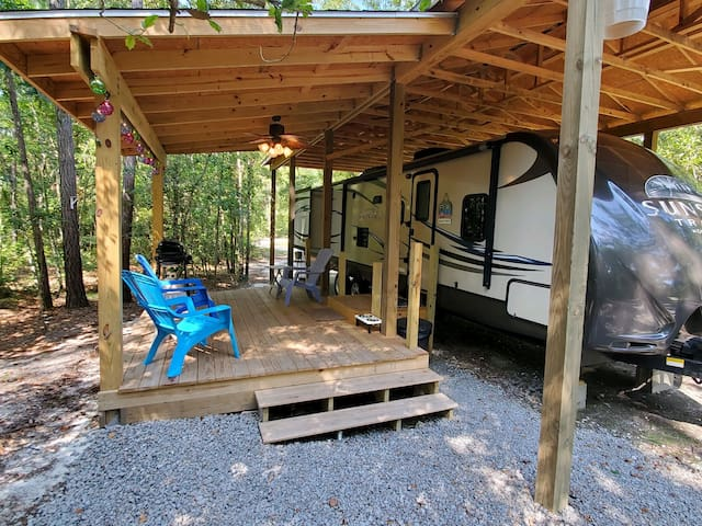 Enjoy a private camping experience w/100Mbps WiFi