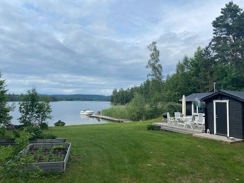 Casa rural en la playa privada con sauna cerca de Gränna