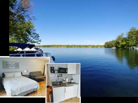 Waterfront: Queen Bed & Full futon, Kitchen, Porch