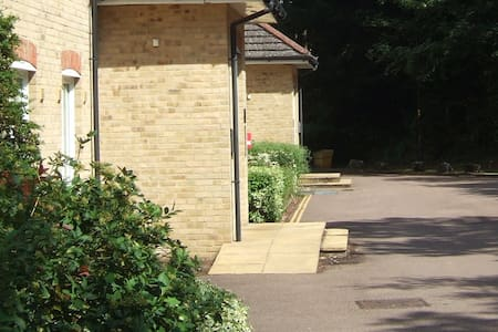 """Ramp on slight slope and 47"""" / 120cms wide"""