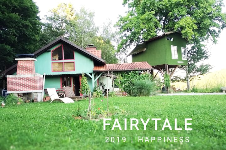 Fairytale wooden house by Ljubljana